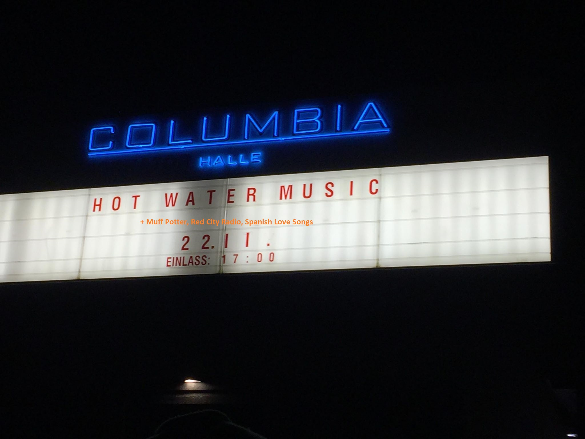 CONCERT REVIEW: HOT WATER, MUFF POTTER, RED CITY RADIO, SPANISH LOVE SONGS @ COLUMBIA HALLE BERLIN