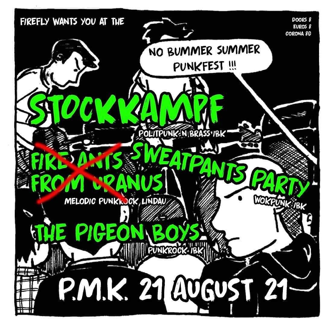 CONCERT REVIEW: STOCKKAMPF + SWEATPANTS PARTY + THE PIGEON BOYS + DJ_ANE KOLLEKTIV TRASH_EISEN @ PMK INNSBRUCK